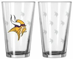 NFL Pint Glass Cup (2 Pack) - Minnesota Vikings by Boelter. Save 30 Off!. $19.99. Novelty-Kitchenware: Pint Glasses. Team: Minnesota Vikings. Sport: Football. BOFBMINPI   Features: -Pint glass cup. -Minnesota Vikings Collection. -Official Minnesota Vikings team color and logo. -Pack of 2. -Satin etched for durability. -Made in the USA. -Capacity: 16 oz..