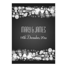 Elegant Wedding Save The Date Dotted Black Custom Invitation Discount DealsReview from Associated Store with this Deal...
