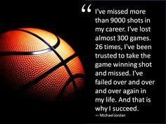Great quote by Michael Jordan.