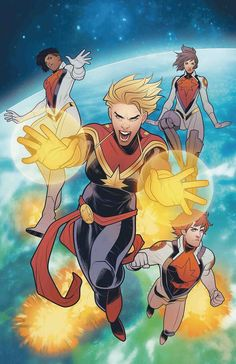 "Daily reading: Mighty Captain Marvel vol 1 - ""Band of Sisters: Part 4 of (Stohl, Bandini) - regular cover by Elizabeth Torque Marvel Dc Comics, Ms Marvel Captain Marvel, Miss Marvel, Comics Anime, Captain Marvel Carol Danvers, Marvel Avengers, Cosmic Comics, Comic Book Artists, Comic Books Art"