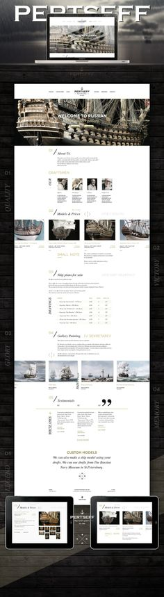 Ideas & Inspirations für Web Designs Pertseff Shipmodel Gallery, Сайт © Алексей Масалов Schweizer Webdesign http://www.swisswebwork.ch