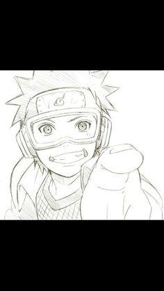 Naruto, obito, and anime image Obito Kid, Kakashi And Obito, Tobi Obito, Naruto Y Boruto, Naruto Fan Art, Anime Naruto, M Anime, Naruto Sketch Drawing, Naruto Drawings