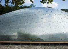 Gridshell pavilion at Singapore University of Technology and Design