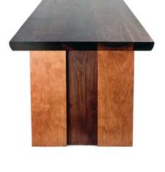 Mid Century Modern style slab Walnut and Cherry cocktail table, handcrafted furniture for Lincoln Park, Chicago client by Spiritcraft Interior Design in East Dundee, IL Hardwood Furniture, Fine Furniture, Conference Table, Dundee, Cocktail Tables, Mid-century Modern, Solid Wood, Dining, Interior Design