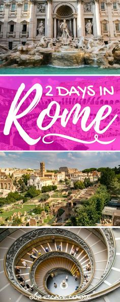 Heading to Rome? Check out this 2 days in Rome itinerary to see all of Rome's best sights, fast! Also learn how to get around, when to go to Rome, and more! European Vacation, Italy Vacation, European Travel, Italy Trip, Cruise Italy, Italy Travel Tips, Rome Travel, Travel Destinations, Cinque Terre