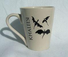 $9.99 Game of Thrones inspired Daenerys Khaleesi Mother of Dragons 12 oz ceramic coffee mug handmade