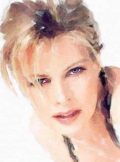 Kim Basinger, Vitaly Shchukin - Watercolor portrait http://www.painterlog.com/2013/05/vitaly-shchukin-watercolor-portrait.html#more                                                                                                                                                     More
