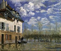 Alfred Sisley - The Boat in the Flood, Port-Marly, 1876