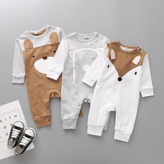 New Arrival baby Cotton Rompers Lovely Fox Animal One-piece Jumpsuits Longsleeve Soft infant baby toddler clothes bebe roupas - Baby Boy Names Baby Girl Names Boy And Girl Cartoon, Baby Cartoon, Cartoon Bear, Baby Pullover, Baby Jumpsuit, Cotton Jumpsuit, Baby Girl Romper, Baby Dress, Girls Rompers