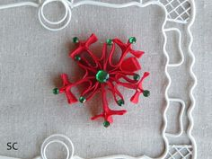 Snowflake Hair Bow Christmas Hair Bow by SanteenCreations on Etsy, $6.00 #giftidea