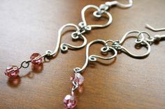 heart to heart copper wire earrings with rose crystal_MG_0163 by Foxmountain 1212, via Flickr