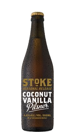 Stoke Beer Coconut Vanilla Pilsner (500ml) This unique Pilsner was originally created and brewed for Nelson's Marchfest 2013 by Ondrej Vojta our resident Czech Brewer. It was so popular we've created a limited release just in time for summer. Ondrej describes it as: a golden Pilsner with a crisp zest of hops and an unmistakable aroma of roasted coconut and vanilla. Tropical and refreshing, best served ice cold! Region / Country: Nelson, New Zealand