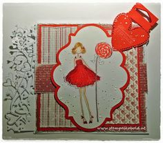 Weihnachtskarte mit Claudia has a Candy  Zubehör gibts bei: www.stempelkobold.at Christmas Ornaments, Holiday Decor, Girls, Home Decor, Xmas Cards, Toddler Girls, Decoration Home, Daughters, Room Decor