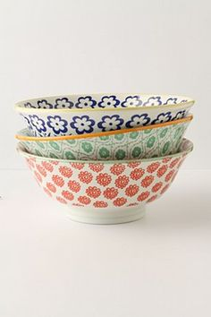 gorgeous serving bowls from anthropologie (of course!)