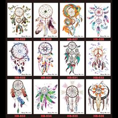 $0.99 - 12 Dreamcatcher Design Tattoo 1pc Decal 2016 New Temporary Women Men Body Back Art Tattoo Sticker Sexy Feather Products Randomly-in Temporary Tattoos from Health & Beauty on Aliexpress.com | Alibaba Group
