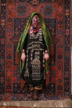 Avar woman (Caucasus), wedding traditional costume. Ethnic groups living in the Russian republic of Dagestan, village Rugudja