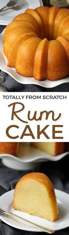 This rum cake is made completely from scratch – there's no pudding or cake mix involved and it's even more delicious than the cake mix version! Can be made with all-purpose flour or with whole wheat pastry flour for a whole grain version.