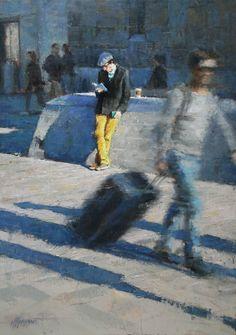 En route | oil on linen painting by Richard van Mensvoort