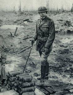 King George V at the Western front, 1917