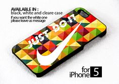 AJ 148 just do it colorful pattern - iPhone 5 Case