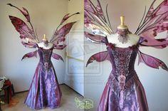 Goblin King's Ball Gown with Giant Kira Wings by FaeryAzarelle.deviantart.com on @deviantART