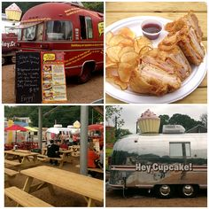 Check out some of the delicious eats at The Picnic food truck court on Barton Springs in Austin!