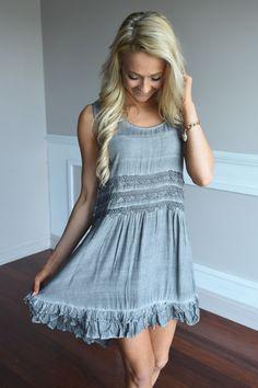 Slate Faded Boho Dress