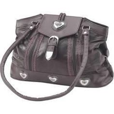 You are bidding on a Brand New, Unused Shoulder Bag in Manufacturer's Packaging. Embassy Brown Italian Stone Design Large Genuine Leather Purse Silver Tone with Heart Decorations. Measures: x x Ships Immediately! Brown Leather Purses, Brown Purses, Leather Handbags, Soft Leather, Leather Bag, Large Purses, Nice Purses, Purses And Handbags, Fashion Bags