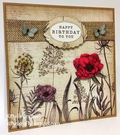 Made using Craftwork Cards Botanica Collection.  More info on my blog - http://kittyskrafty.blogspot.co.uk/2014/02/botanica-birthday.html