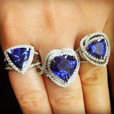 💙💙💙 Which Blueberry Tanzanite ring is your favorite? Tanzanite Jewelry, Gemstone Jewelry, Jewelery, Silver Jewelry, Jewellery Earrings, Jewelry Rings, Tanzanite Engagement Ring, Diamond Engagement Rings, Diamond Rings