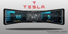 RATANDESIGNZ: Tesla Instrument Cluster Concept Design sketches