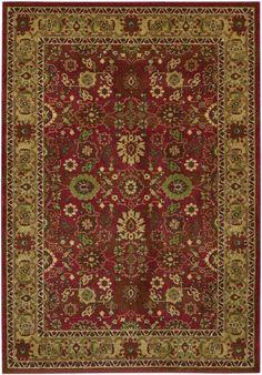 Couristan Pera All Over Mashhad Crimson Fawn Rug   Traditional Rugs