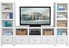 picture of Eldon Square White 3 Pc Wall Unit from Wall Units Furniture