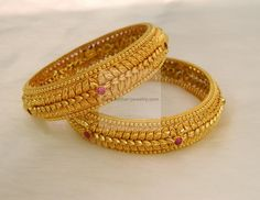 Bangles / Bracelets / Kada - Gold Jewellery Bangles / Bracelets / Kada (BG64766476-2.4) at USD 3,180.80 And GBP 2,180.89