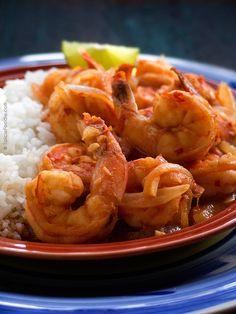 Leslie's Mexican Deviled Shrimp | #shrimp #spicy #mexicanrecipe #Lentenfood