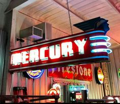 Original Mercury Automobiles Neon Sign