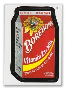 Wacky Packages - 7th Series 2010 Sticker #14 Boredom