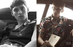 In My Car–Photographed by Karim Sadli inside vintage cars, models Matthew Bell (Nathalie), Jester White (Select), Anders Hayward and Anatol Modzelewski (Bananas), embrace retro-inspired styles for the latest issue of Man About Town. Stylist Beat Bolliger dresses the boys in basic pieces, revisited with floral prints, graphic patterns and modern textures, while Sadli provides relaxed... [Read More]