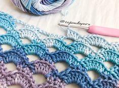 Punto de nubes tejido a #crochet paso a paso en video tutorial ☁️⛅️