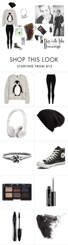 """""""Day with Luke Hemmings"""" by kadenirwin on Polyvore featuring H&M, M&S Collection, Beats by Dr. Dre, Free People, Workhorse, Converse, NARS Cosmetics, MAC Cosmetics, Lancôme and Topshop"""