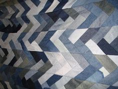 Blue Jeans Quilts - easy denim quilts made from recycled jeans for