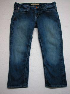 BUCKLE BIG STAR Dark Wash Low Rise Stretch Capris Jeans sz 32 ( Measure 34x23.5) #BigStar #CapriCropped