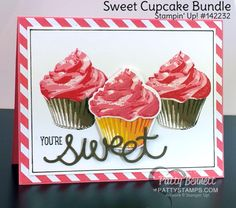 """Sweet Cupcake card with """"frosting""""!"""