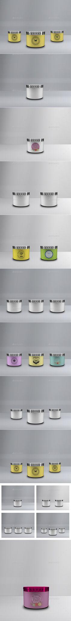 Lotion or Cream Jar Mockup
