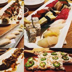 Tonight's damage #shokudo #japanese #hawaii #sushi #tataki #tsukiji #sampler #tamago #aji #ebi #ootoro #maguro #ebi #yeyeye #mbn #hilife by peejay808