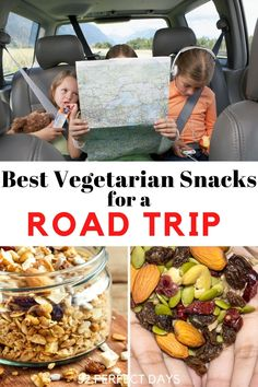 Best Snacks for Road Trips. Simple, Delicious Road Trip Snacks, Travel Snacks, Road Trips, Vegetarian Snacks, Vegetarian Options, Yummy Snacks, Healthy Snacks, Gluten Free Snacks, Lunch To Go
