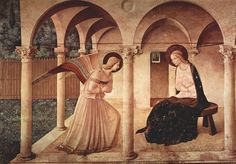Giotto - The Annunciation. #giotto, #art