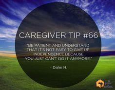 Caregiver Tip #66: Giving Up Independence