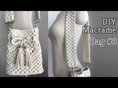 Macrame Owl, Macrame Purse, Macrame Knots, Clutch Tutorial, Macrame Wall Hanging Patterns, Macrame Tutorial, Macrame Projects, Fashion Sewing, Knitted Bags