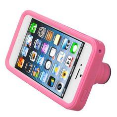 Emboss 3D camera pink iPhone 5 Pastel Soft skin case